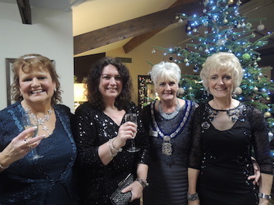 IPP Kay with SI St Austell club Presidents Maggie & Jane with Tiffany Truscott.