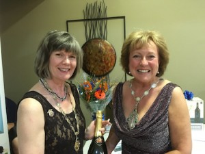 Region President Diane with Plymouth President Pam at the Gala Dinner Dance at Borington Park Golf Club