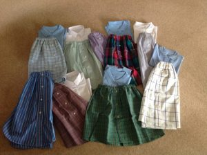 Skirts from shirts
