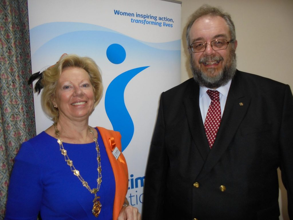 Regional President Daphne with Kevin Needham from The Met Office