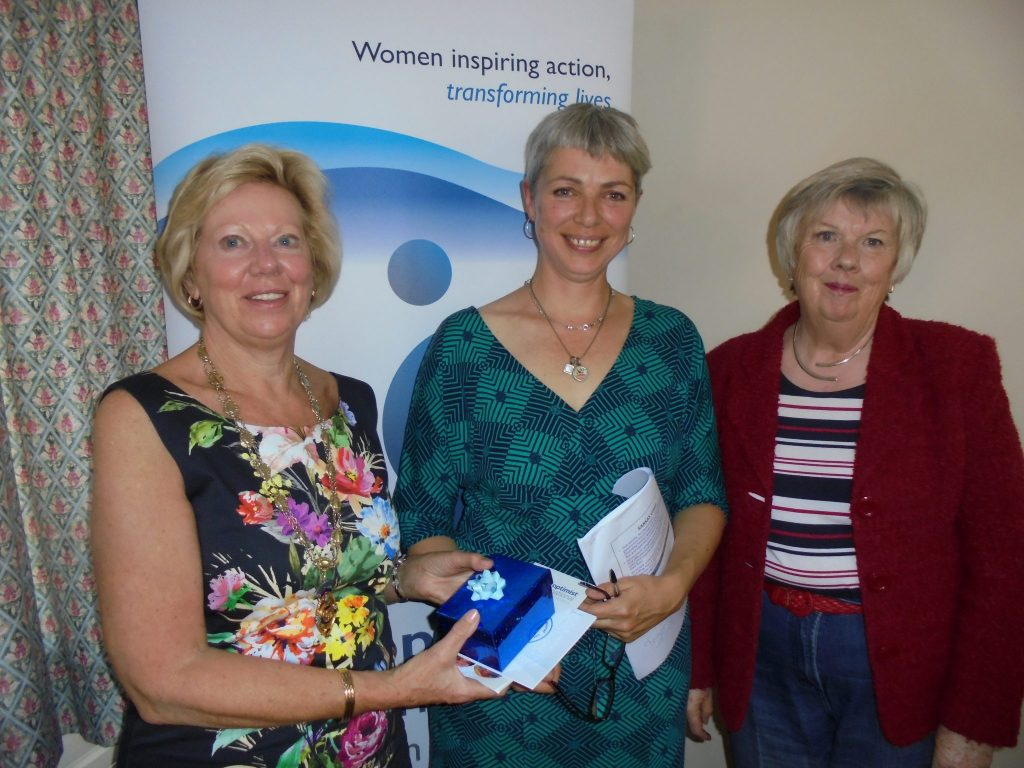 Regional President Daphne with Rowan Miller from SARSAS, along with Anne Kearle from SI Taunton
