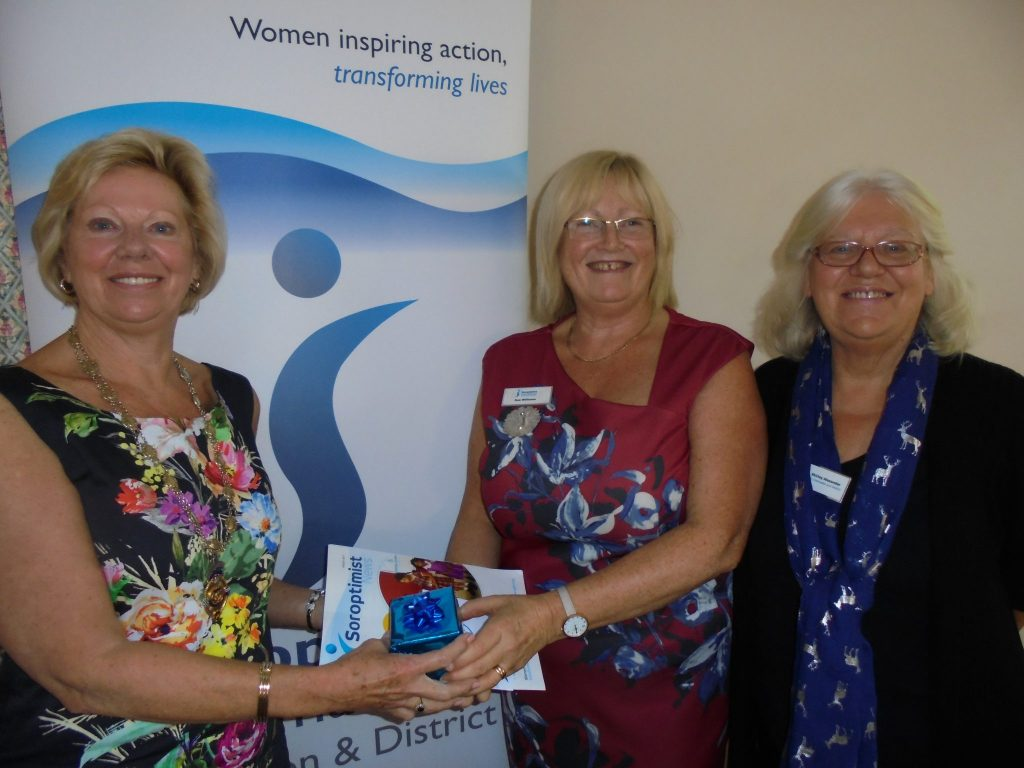 Regional President Daphne Dowsing thanking SIGBI Director of Membership Sue Williams, along with Regional Membership Officer Shirley Alexander