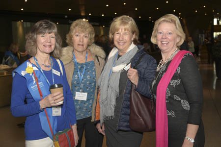 Daphne with Regional members at Cardiff 2017