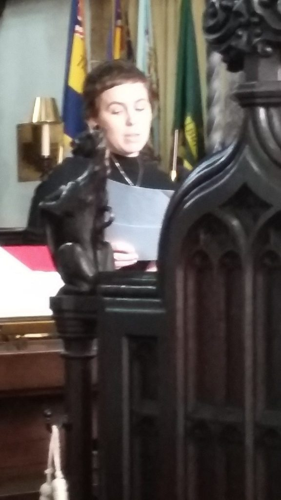 Jodi Collett from Victim Support speaking at the Lord Mayor's Chapel