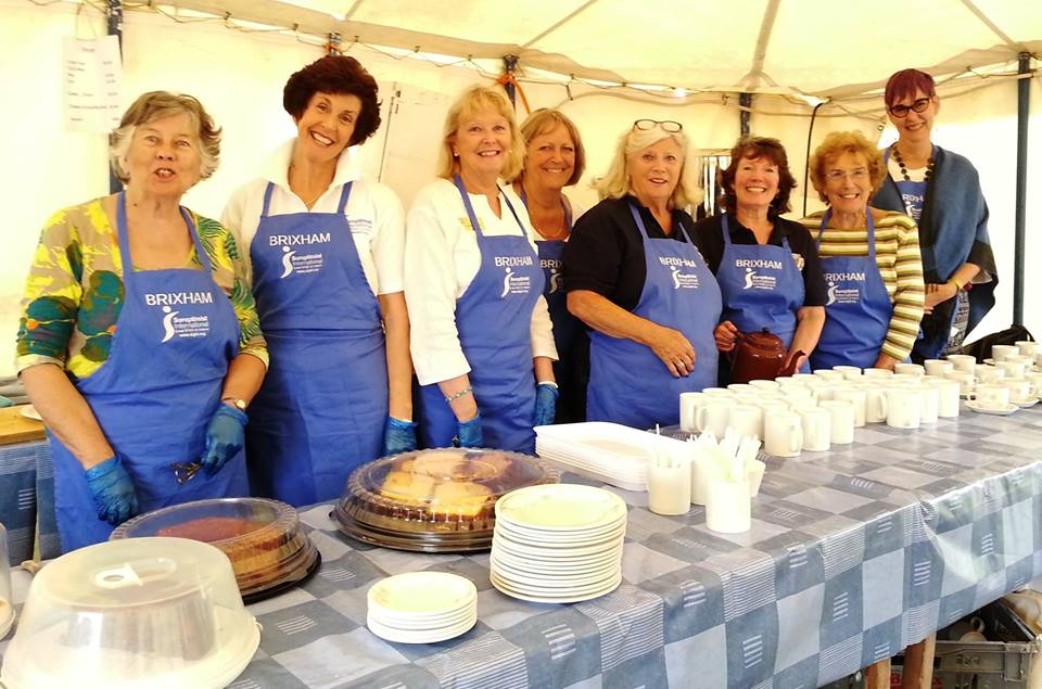 SI Brixham selling cakes and raising money at their local Steam Fair - winners of January 2018 Club Photo of the Month.