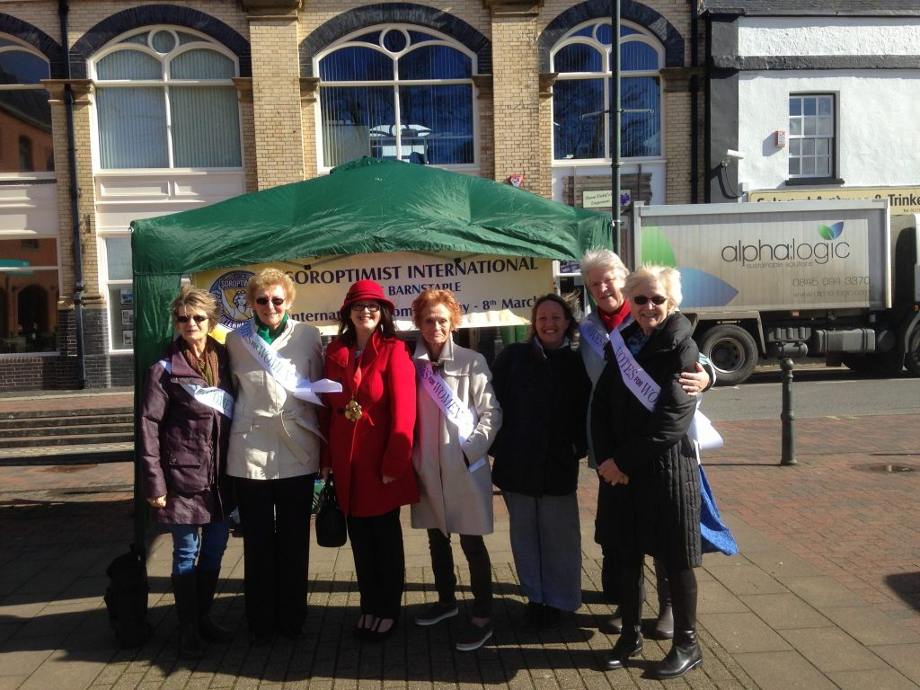 SI Barnstaple and District were joined by the town's Mayor to celebrate International Women's Day and the centenary of Votes for Women