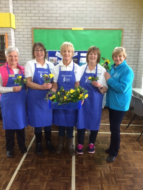 Brixham Soroptimists Sue Masters, Marian Dart, Sheila Andrews, Sue Salter and their President Wenona Pappin at the International Women's Day coffee morning at the Community Centre