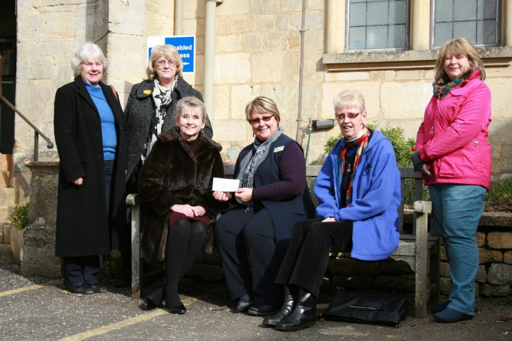 Members of SI Cheltenham presenting a cheque for £1,000 to the Sue Ryder Hospice at Leckhampton Court.  Funds raised from a Tapas lunch and an Annual Quiz will also go to Toilet Twinning for a school toilet block.