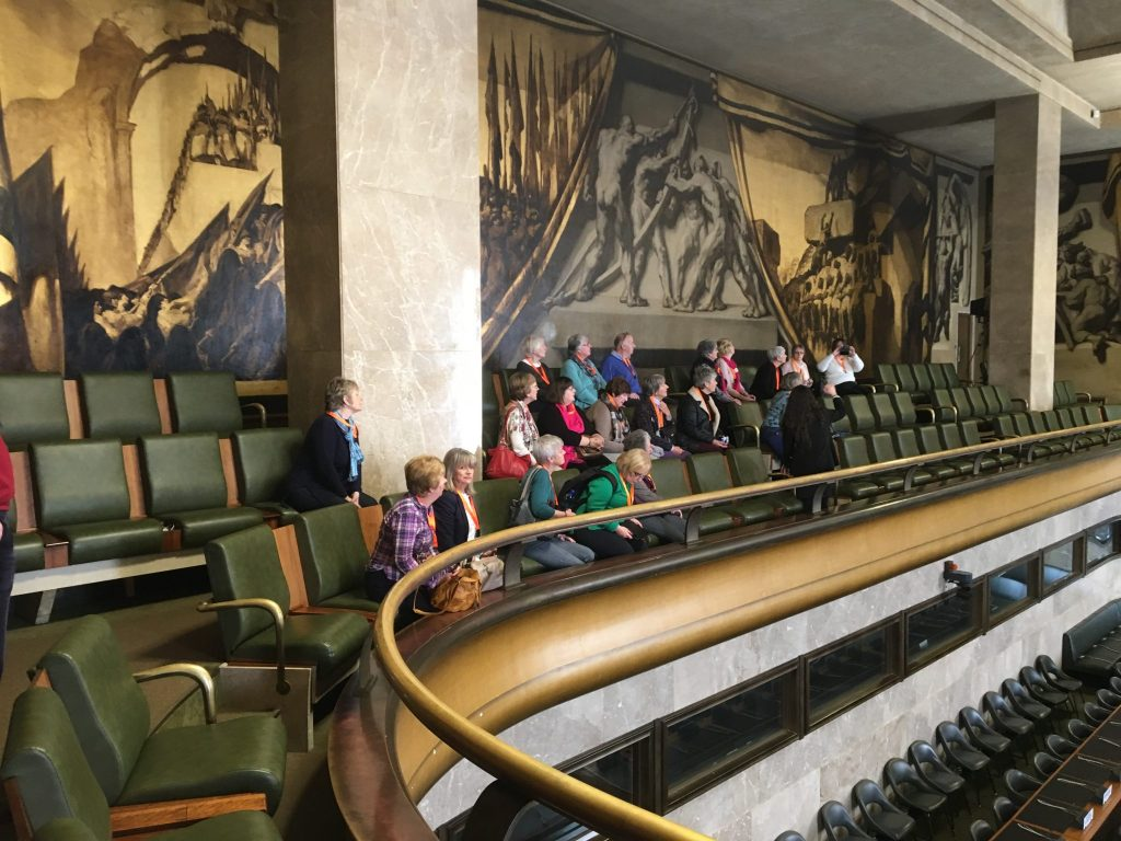 In the original Council Chamber of the League of Nations