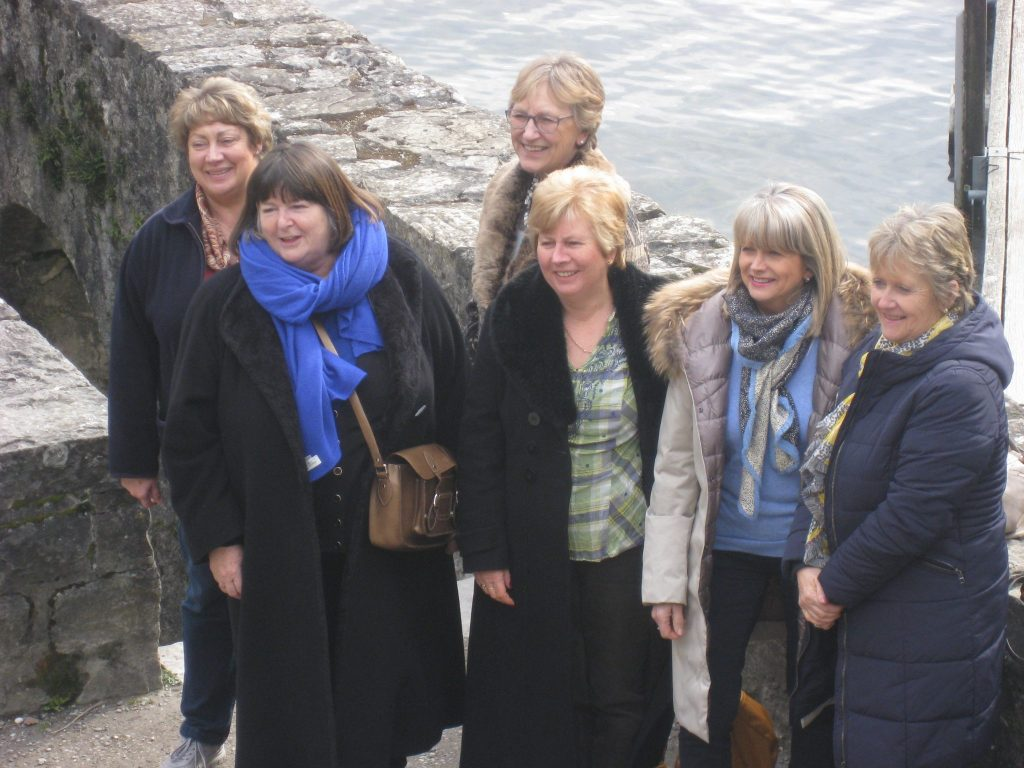 Members of SI Taunton at Chateau Chillon.