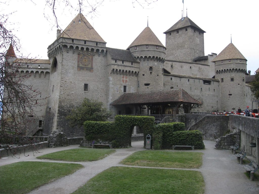 Chateau Chillon, the island castle, is an important historical monument in Switzerland.  The site is 1000 years old but the key period was from the mid 12th Century when it was the summer home of the Counts of Savoy.