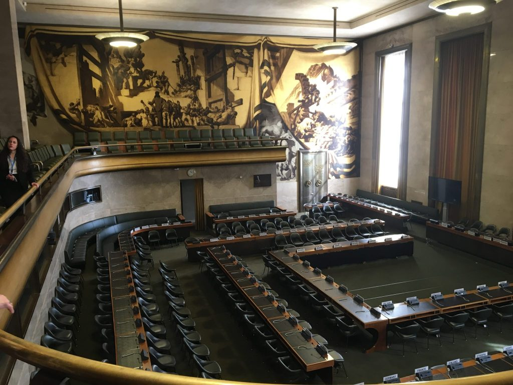 The original League of Nations Council Chamber.