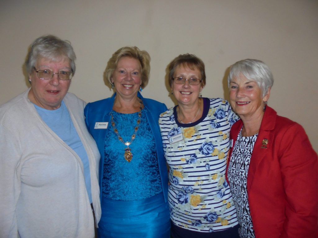 Regional Officers at the top table (L-R) - Janet Diffell (Treasurer), Daphne Dowsing (President), Catherine Hannaford (Secretary) and Margaret Parkinson (Vice President)