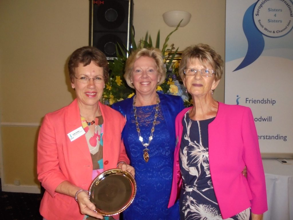 Lydia Cardew form SI Swindon was presented with the Ellen Brawn Award for Programme Action by Daphne Dowsing and Irene Hockin.