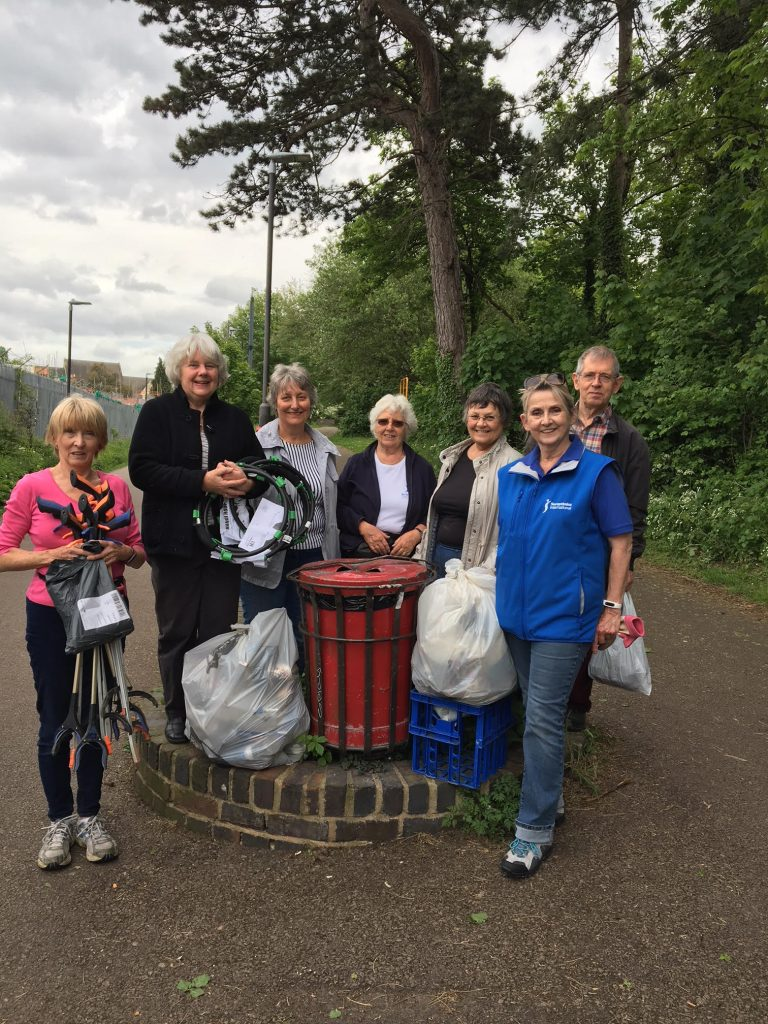 Members of SI Cheltenhammarking UN Day of the Environment by going on a litter pick.  This was part of the national Great Plastic Pick up Campaign.