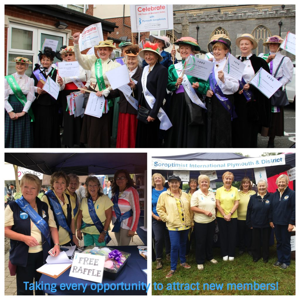 SI Plymouth celebrates Membership month in a variety of ways - a march through Plymouth city centre to celebrate the Centenary of Votes for Women, attending Plymouth's Lord Mayor's Day event and a local historic Lamb Feast