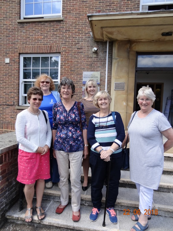 Soroptimists Lydia Cardew, Jenny King, Barbara Banks, Catriona Murray, Valerie Nuttall and Judith Wood took part in a 3 month project observing Domestic Abuse cases in Swindon and Chippenham courts.  115 reports were completed and submitted to the office of Wiltshire Police and Crime Commissioner.