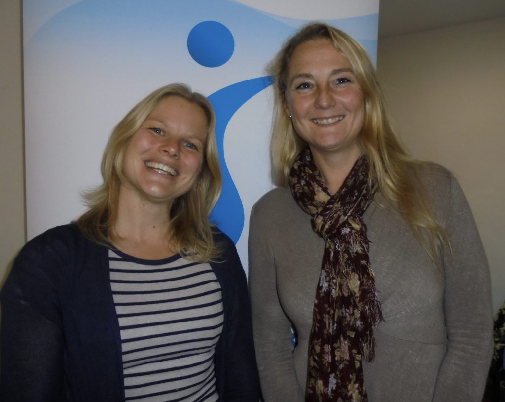 Speakers at the meeting: Dr Carly Daniels (left) and Toni Dowrick