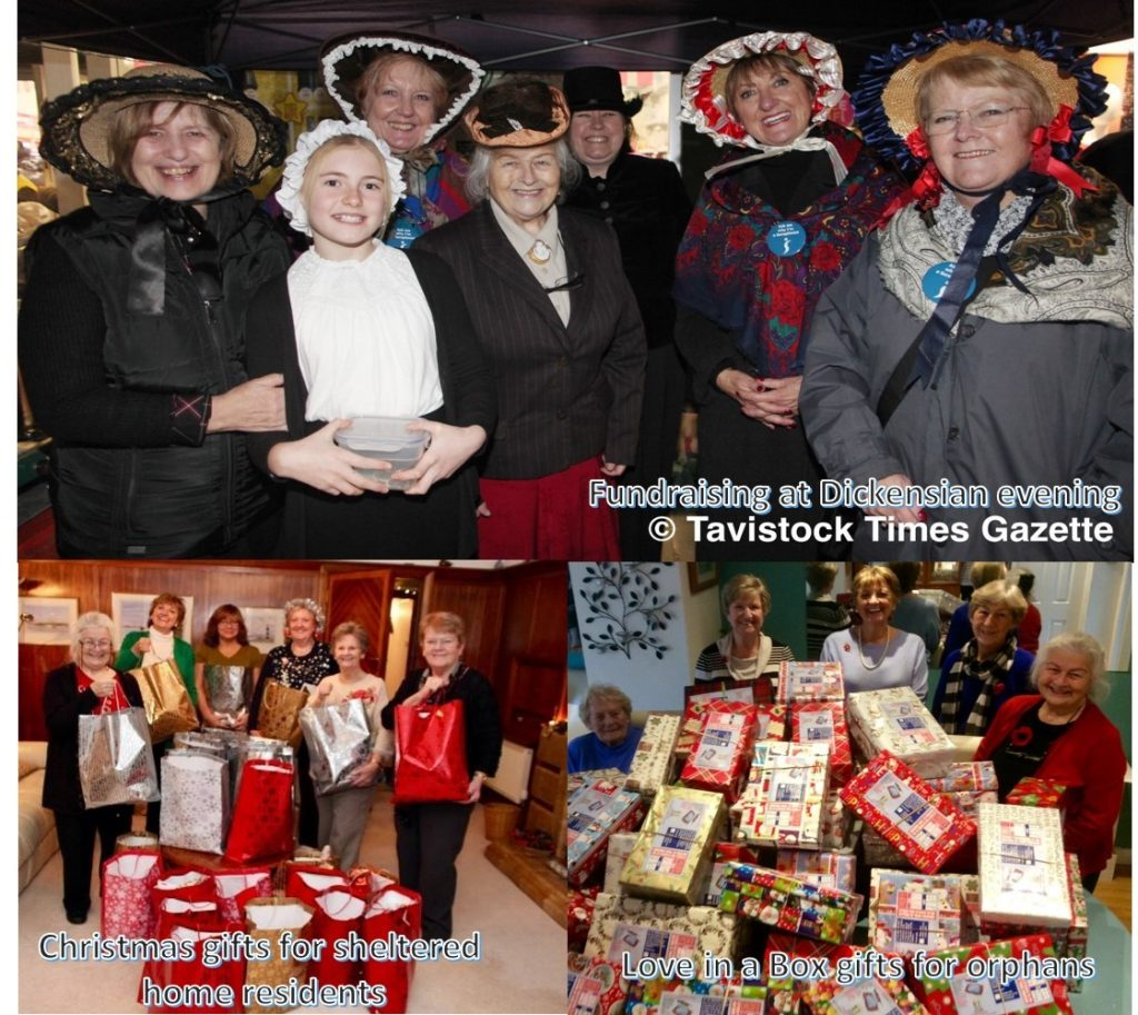 SI Plymouth & District carried out numerous fundraising activities which led to Christmas gifts - goody bags for residents in sheltered housing and boxes for orphans in Moldova and Ukraine.