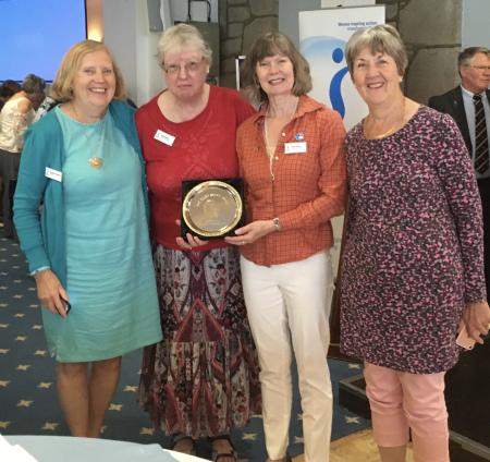 Members from SI Bath proudly displaying their Ellen Brawn award.