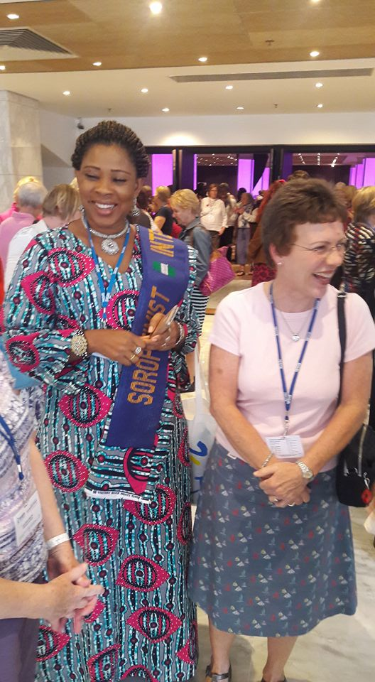Meeting our Surulere Club friends after handing over hearing aids Malta 2016