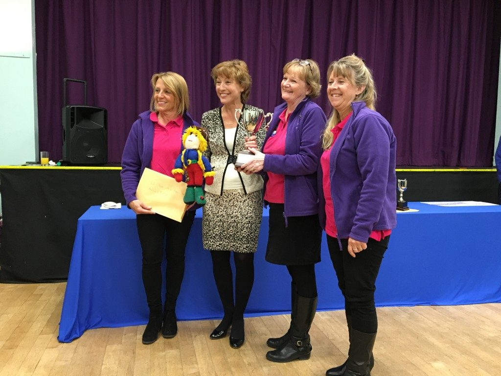"Members of the Reminisicence Learning team who won the Team with a Theme Trophy for their entry ""The Russian Dolls"""