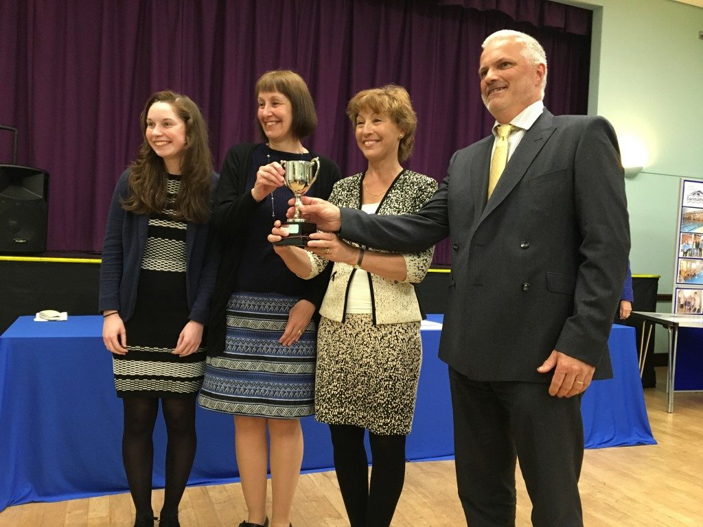 Lentalls Accountants receiving the Mayor's Cup for long term support of the event