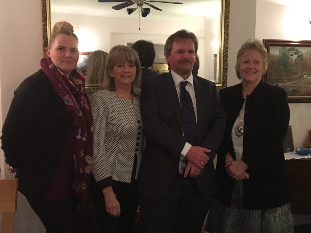 John Trolan (CEO) and Christina Line from The Nelson Trust were guest speakers at the March 2018 meeting.  Pictured here with Presidents Rhona and Jane.