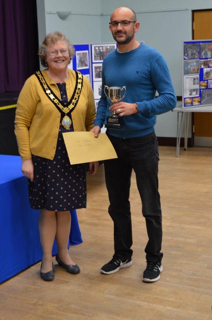 The Sharks - winners of the Mayor's Cup for long term support of the Swimathon awarded to a team who has not previously won an award.  Duncan Moore, family and friends have entered almost every Swimathon and raised lots of money over the years, this year raising £490