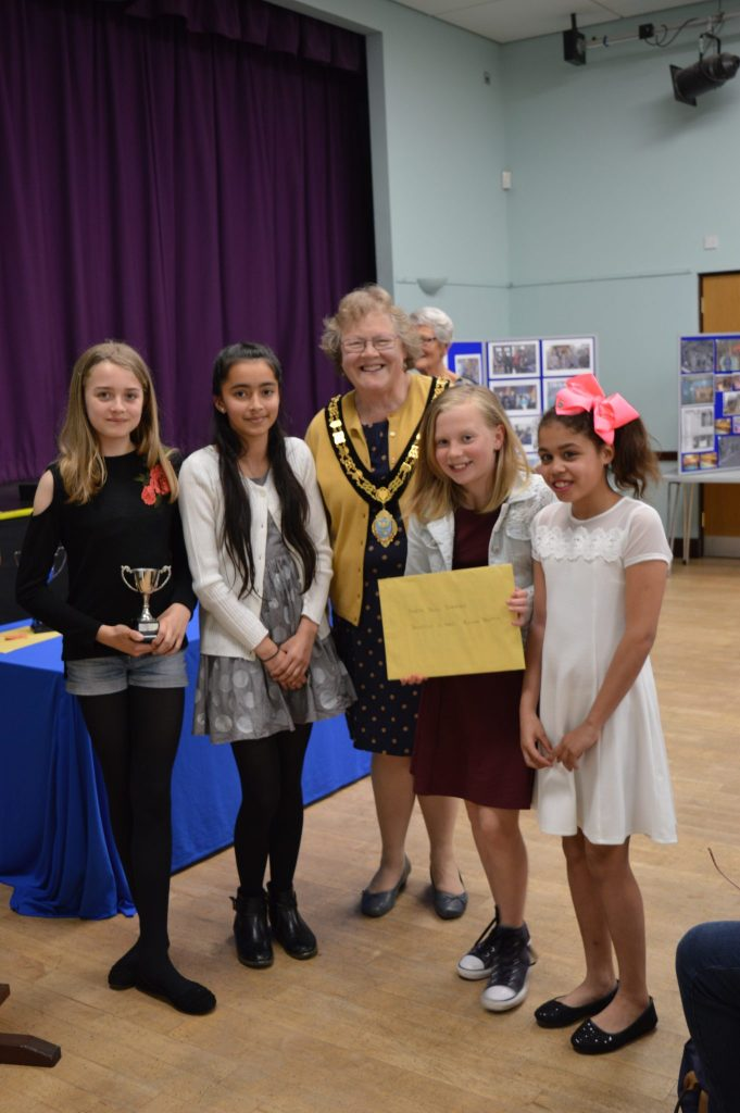 North Town Sharks - joint winners of the Taunton School Junior School for the Primary School Team swimming the most laps