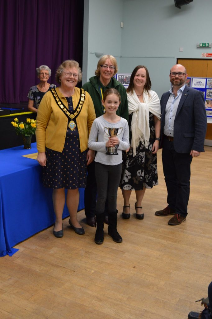 The Soroptimist Family Cup for the Family Team raising the most money - Foodbank Flotsam who raised £590