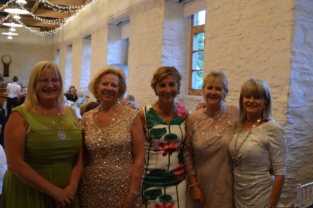 At the Hestercombe Dinner to celebrate our 80th Anniversary, ( Lto R) SIGBI President Elect Sue Williams, SWCI Regional President Daphne Dowsing, Taunton Deane MP Rebecca Pow, Joint Presidents Jane and Rhona