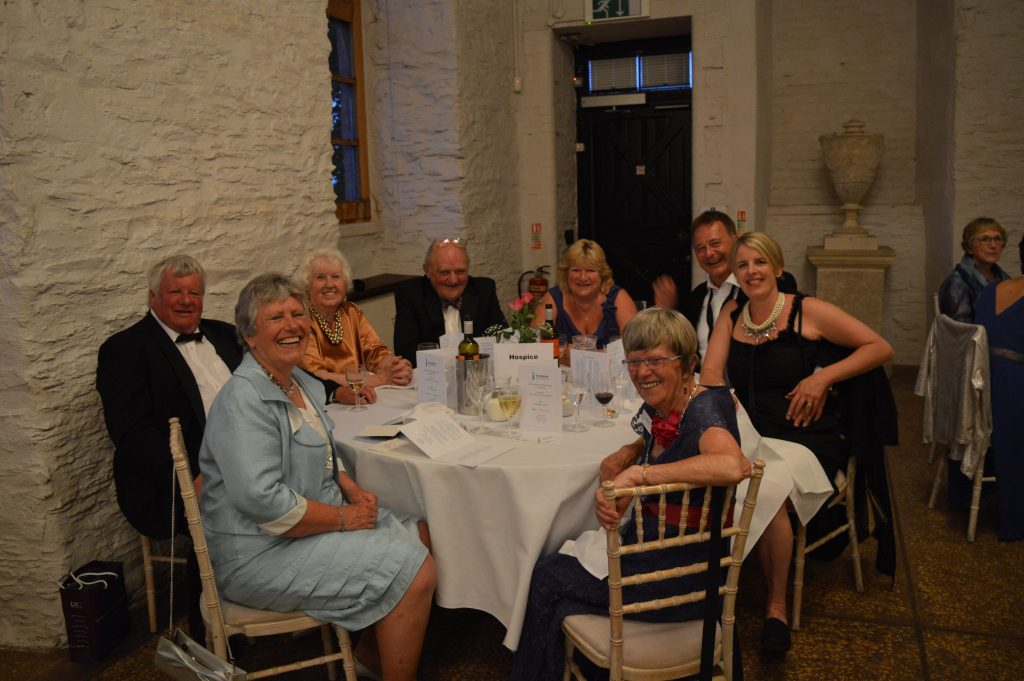 "At the 80th celebration dinner at Hestercombe House - the ""Hospice"" table"