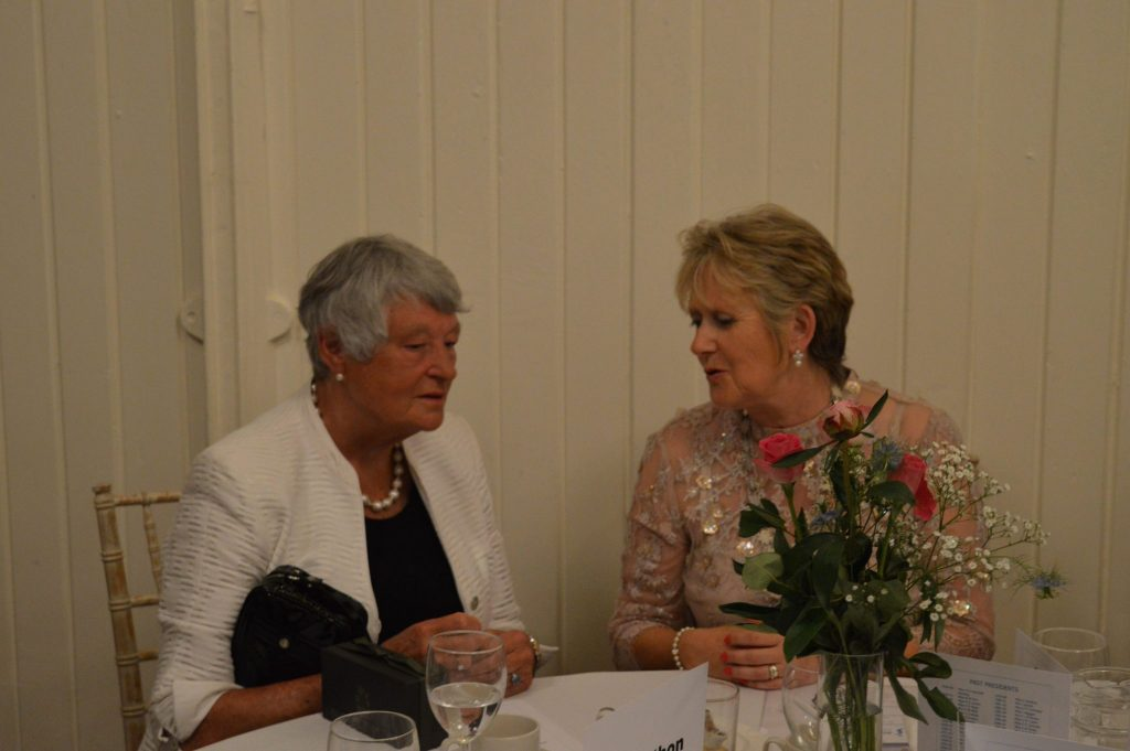 Joint President Jane in conversation with guest speaker Dame Janet Trotter DBE CVO