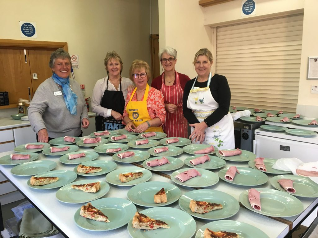 Members of SI Taunton preparing the lunch for attendees at the South West & Channel Islands November Regional Meeting