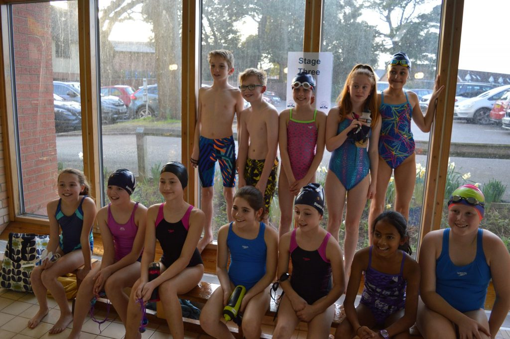 ST3 from Taunton Swimming Club - two teams called the Stingrays and Swordfish.