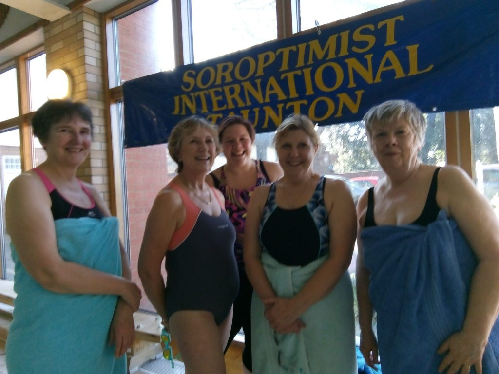 Our very own Soroptimist Swans team - it's not just about organising the weekend but also taking part!