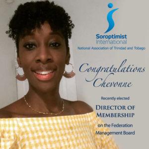 Congratulations Chevonne!