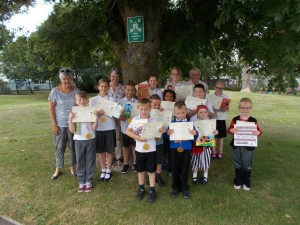 Reading awards at local school