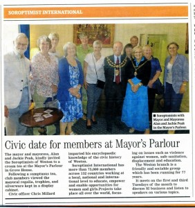 Sorops in Mayor's Parlour