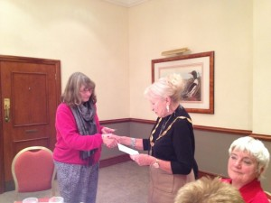Dorothy Clark welcomes or new member Janet Evans