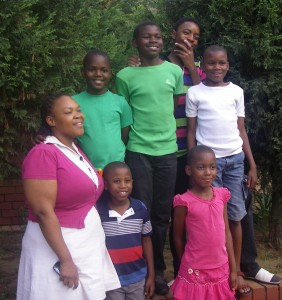 The Children and housemother No1House, SOS Children's Village Mamelodi