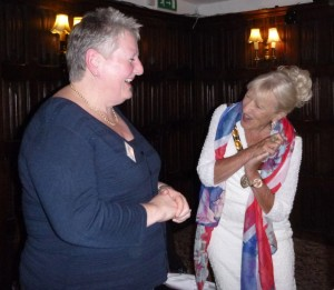 Dorothy Clark and our new member Ann Maloney
