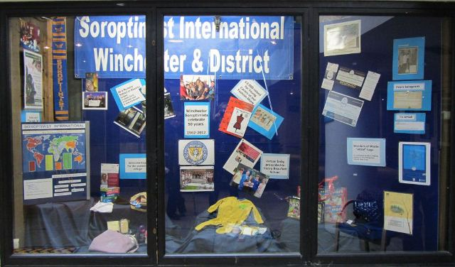 Window display at the Brooks Centre for webWindow Dressing